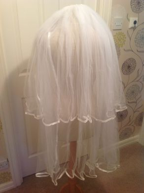 White Two Tier Wedding Veil