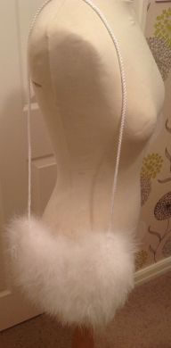 White Feather Bag