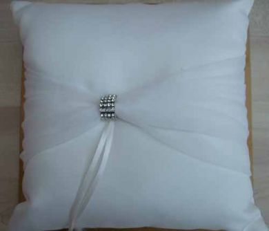 Ivory Ring Pillow by Amouoreux Wedding Collection.