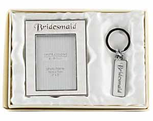 Bridesmaid Photo Frame and Keyring Gift Set.