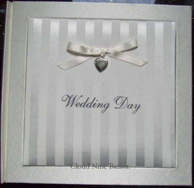 Wedding Day Ivory Silk Fabric Album.