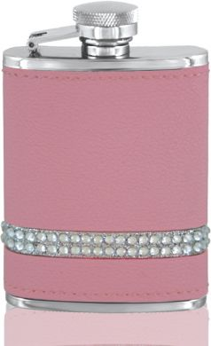 Pink Diamante Band Hip Flask